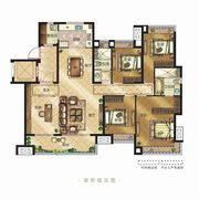 金科博翠天辰Y3户型5室2厅166㎡