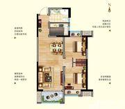 中航长江广场11#楼B1户型2室2厅77.04㎡