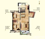 中航长江广场11#楼C1户型2室2厅82.86㎡