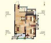 中航长江广场11#楼D户型2室2厅70.91㎡