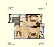 中航长江广场11#楼E户型1室1厅52.85㎡
