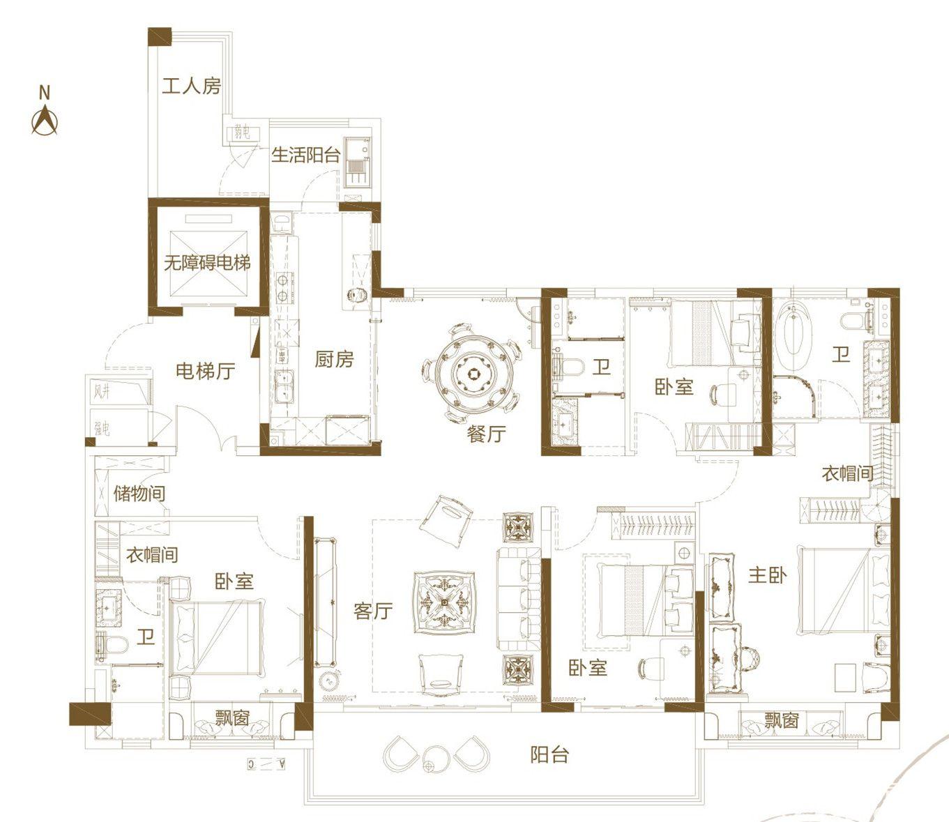 铜陵碧桂园D4室2厅180平米