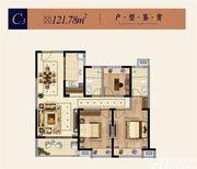 淮矿东方蓝海C33室2厅121.78㎡