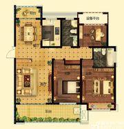 远大中国府玖珑府C1户型3室2厅125.83㎡