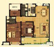 远大中国府玖珑府B2户型3室2厅108.15㎡