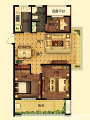 远大中国府玖珑府D1户型3室2厅111.22㎡