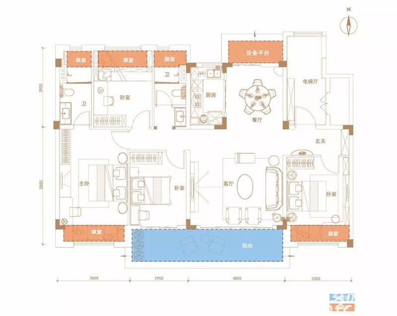 碧桂园珍宝岛时代印象时代·天韵4室2厅142平米