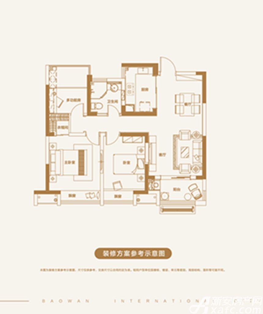 宝湾国际城宝湾国际城3室2厅89平米