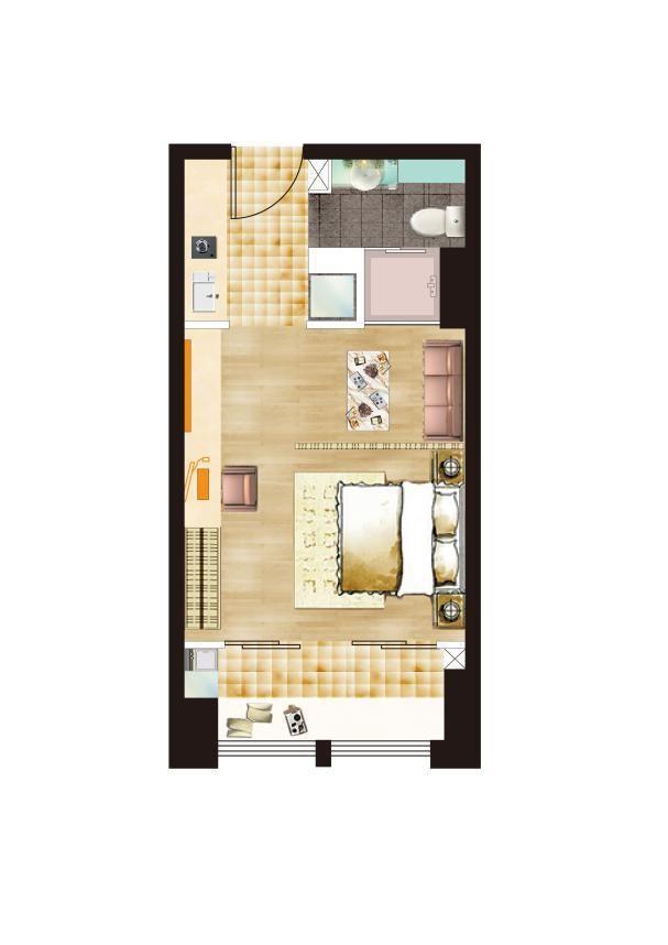 时代天寓共享立体城市公寓1室46平米