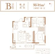 高速时代首府B户型3室2厅90㎡