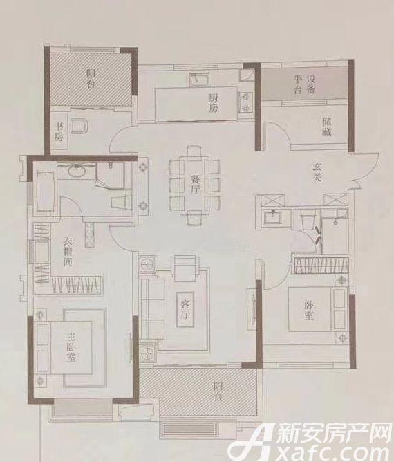 金隅南七里府境户型4室2厅140平米