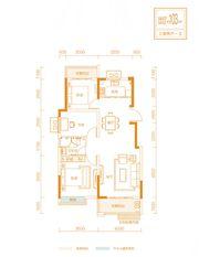 金科庐州樾B户型3室2厅103㎡
