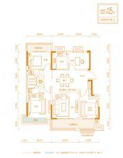 金科庐州樾A户型4室2厅125㎡