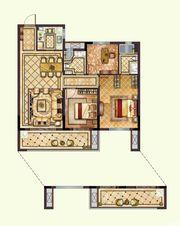 华鸿珑樾府108户型3室2厅108㎡