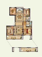 华鸿珑樾府134户型3室2厅134㎡