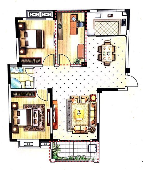 嘉利学府C23室2厅113平米