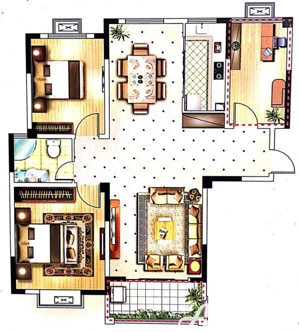 嘉利学府A33室2厅139平米