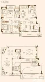 融侨观澜洋房五层(跃层)5室2厅162㎡