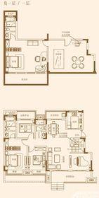 融侨观澜洋房一层+负一层5室2厅207㎡