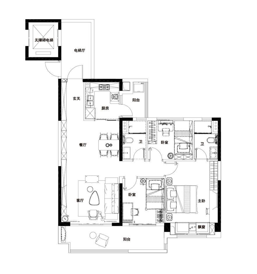 碧桂园·铜官乐YJ1153室2厅115平米