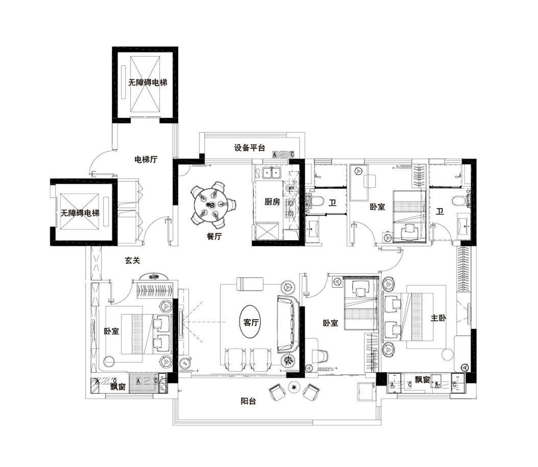 碧桂园·铜官乐YJ1404室2厅140平米