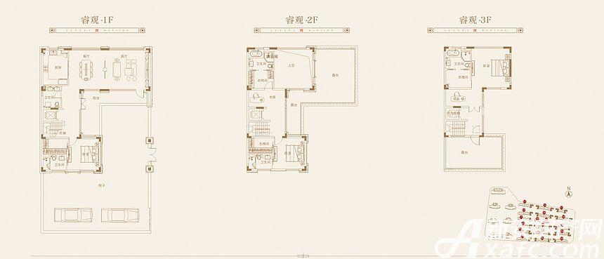 皖投尊府别墅A户型5室2厅240平米