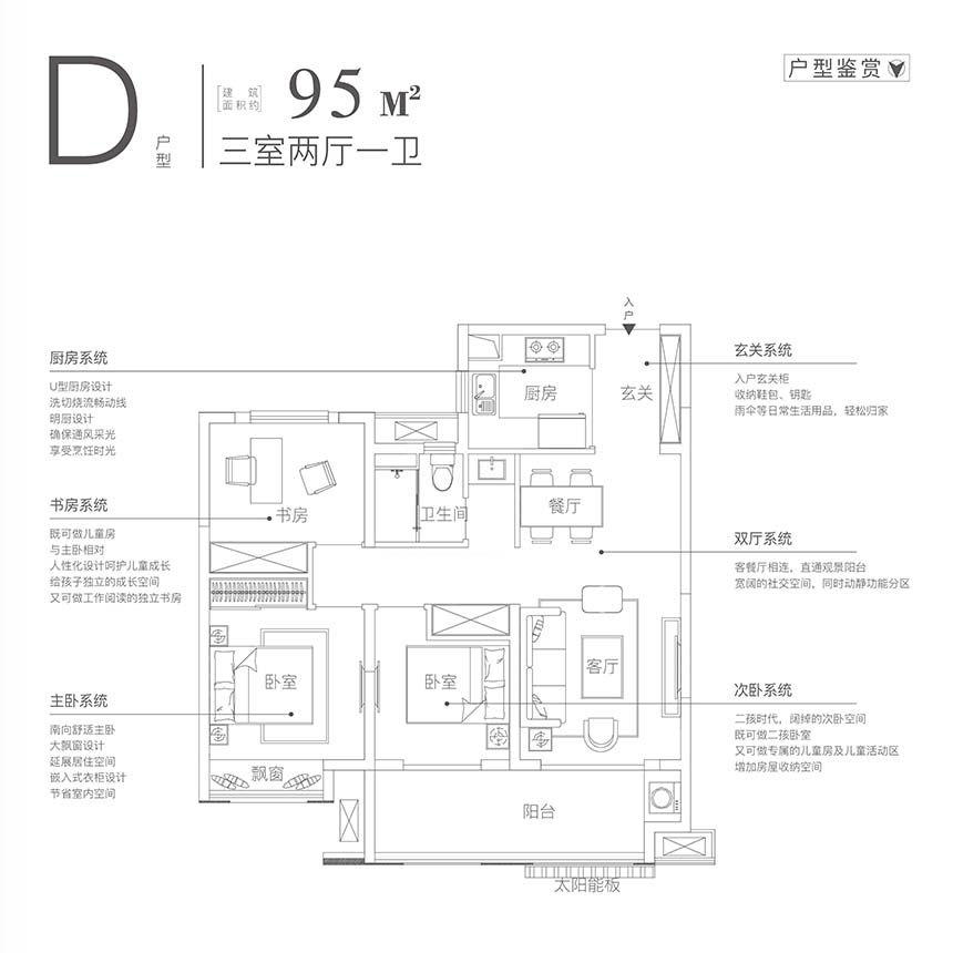 皖投万科产融中心D3室2厅95平米