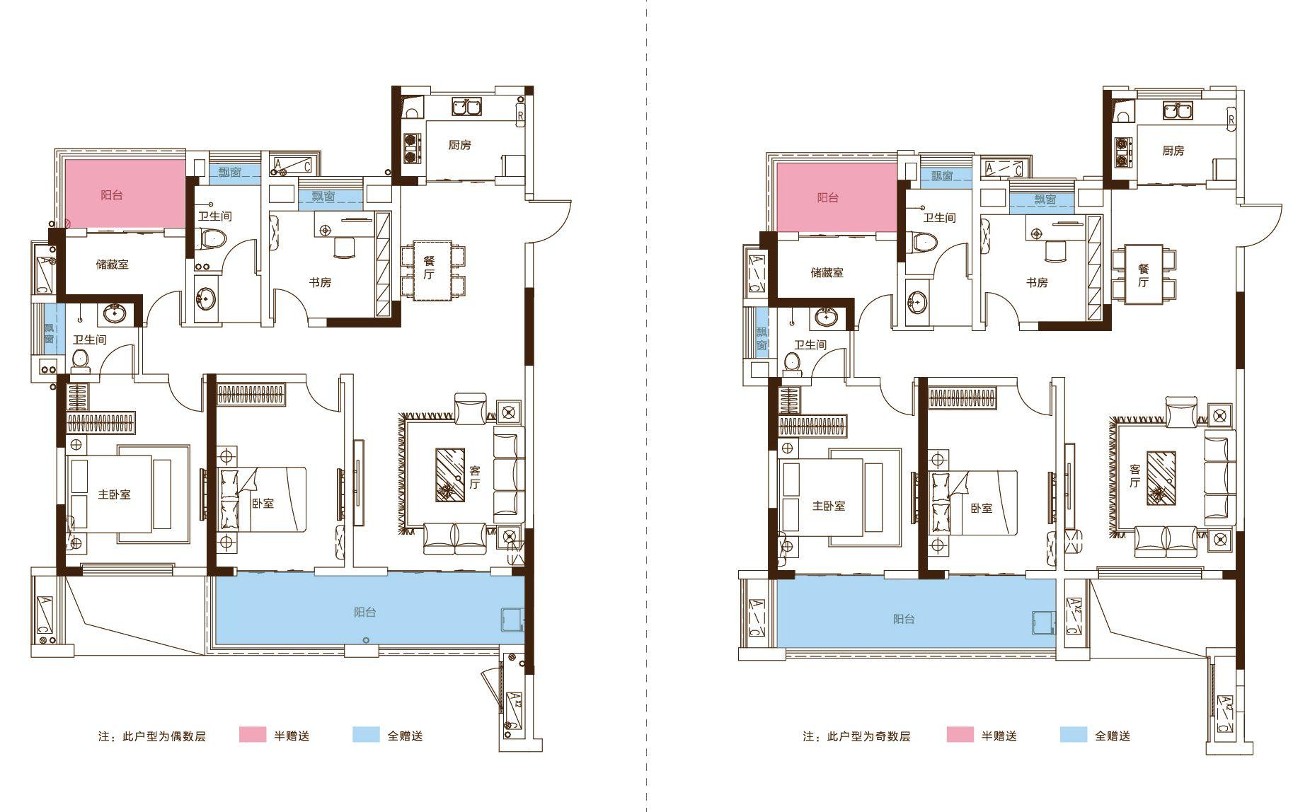 文一锦门学府里G-A4室2厅128平米