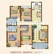 天湖丽景湾天湖丽景湾B户型4室2厅133.8㎡