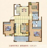 天湖丽景湾天湖丽景湾C1户型3室2厅114.12㎡