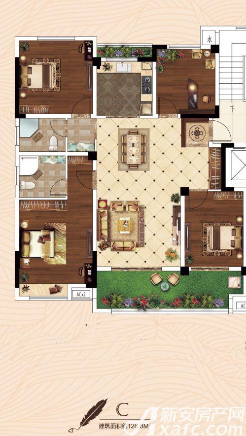 振兴城时光小镇西区C4室2厅128.8平米