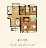 粤泰天鹅湾G4户型4室2厅160.54㎡