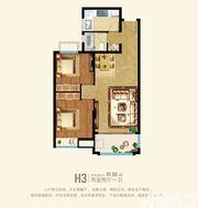 粤泰天鹅湾H3户型2室2厅81.9㎡