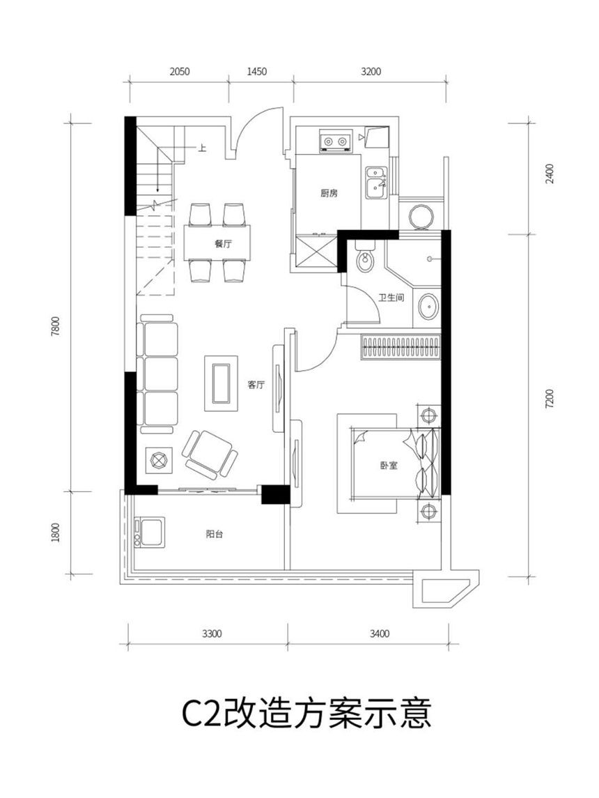 琥珀东华府C2跃层 中户3室2厅120平米