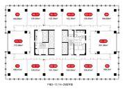中侨中心1#3-12/14-28层户型24室168㎡