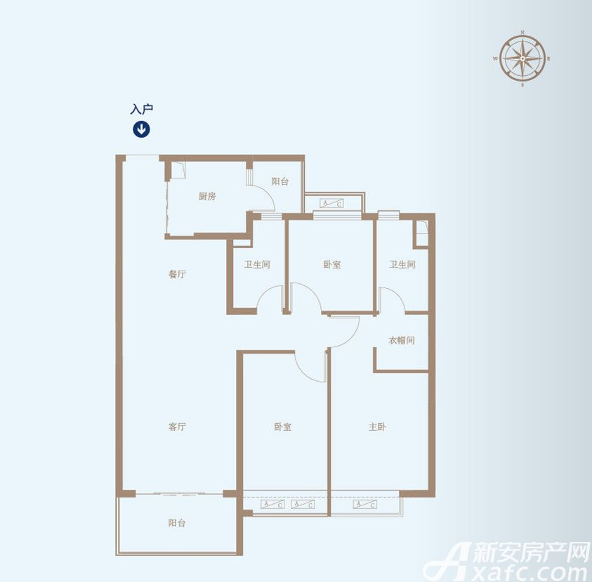 恒大绿洲49#B/C3室2厅118.56平米