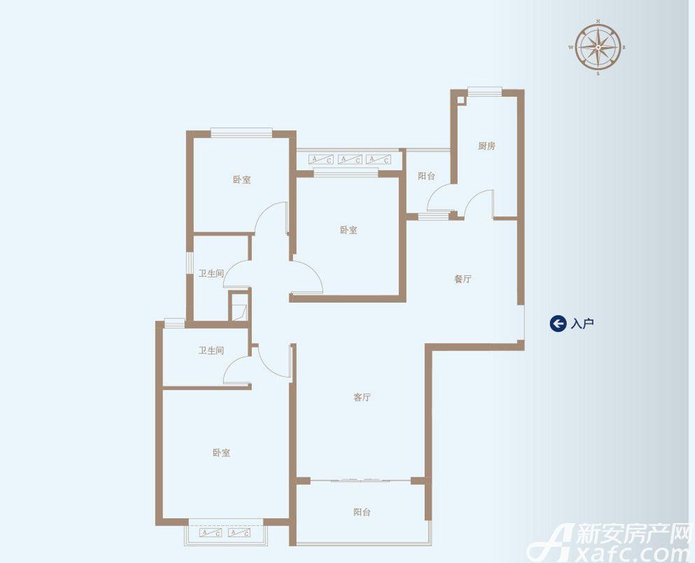 恒大绿洲50#C3室2厅121.95平米