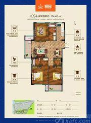 联佳爱这城X43室2厅124.4㎡