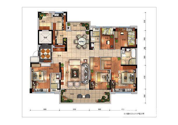 碧桂园·翡翠湾玉楼春5室2厅215平米