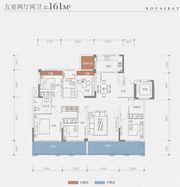 建投御景湾D2户型4室2厅161㎡
