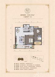 联佳·翰林府B23室2厅86.99㎡