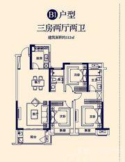 京师国府B13室2厅112㎡
