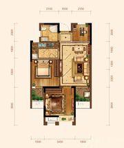 九华江山境E5户型3室1厅74.49㎡