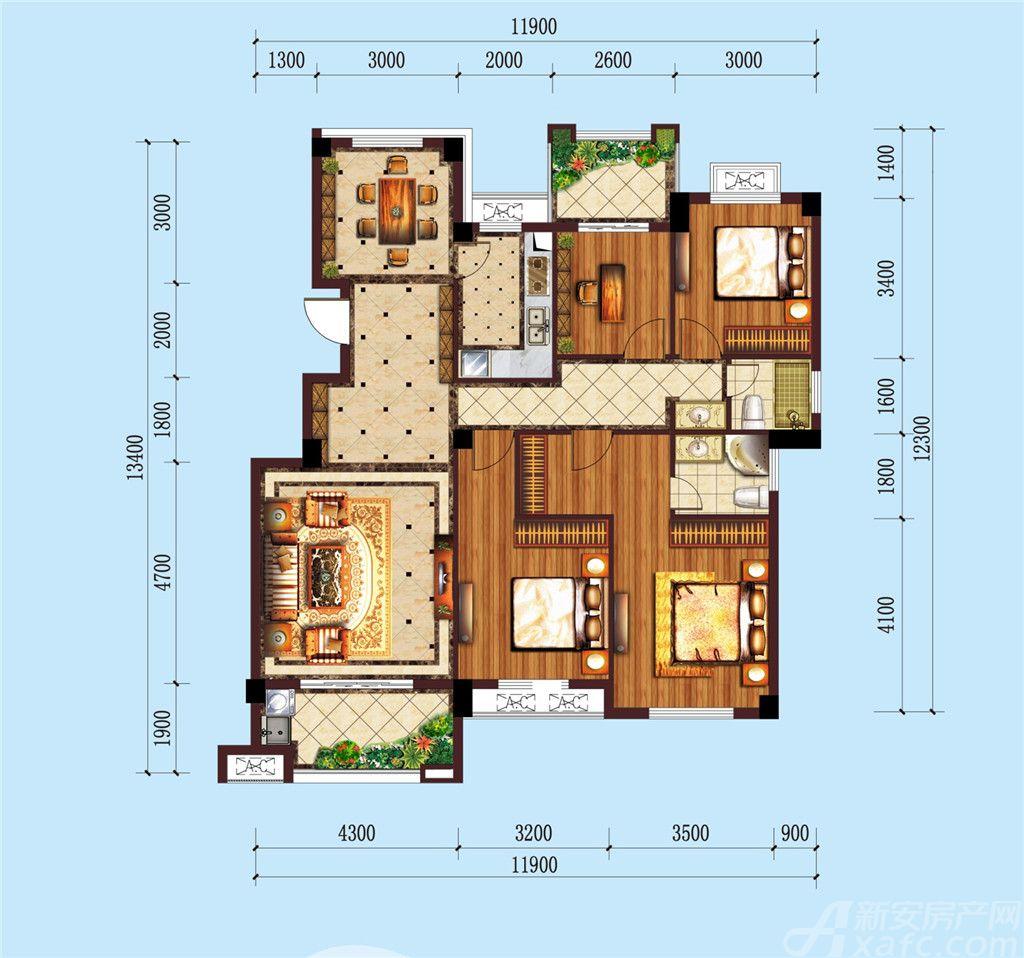 公园道B区御湖E24室2厅137.71平米