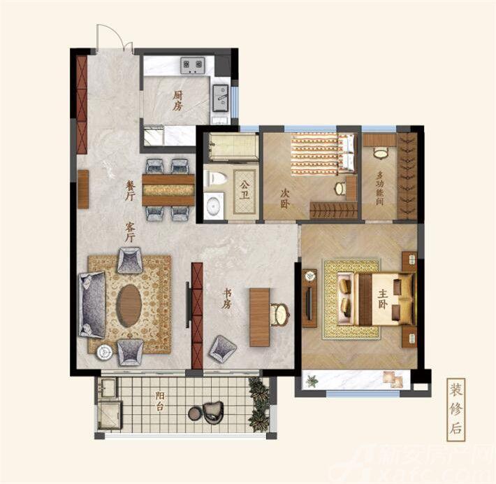 鼎元府邸和悦府2室2厅106平米