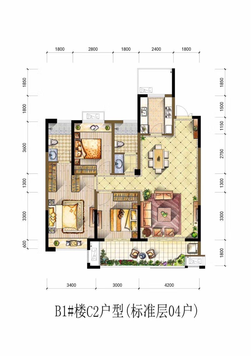 书香雅苑C23室2厅1平米