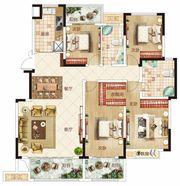温州商贸城A户型4室2厅160㎡