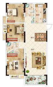 温州商贸城C户型3室2厅130㎡