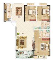 温州商贸城F户型3室2厅115㎡
