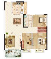 温州商贸城G户型3室2厅105㎡